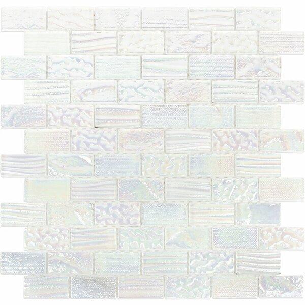 Marina 1 x 2 Glass Mosaic Tile in White by Splashback Tile