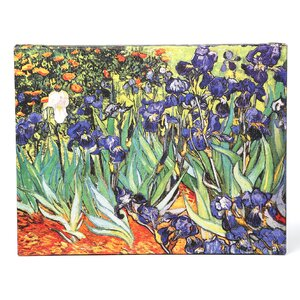 'Irises by Vincent Van Gogh Painting Print on Canvas in Green and Purple by Alcott Hill