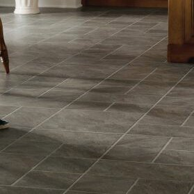 Castilian Block 16 x 48 x 8mm Tile Laminate Flooring in Pizarro by Armstrong Flooring