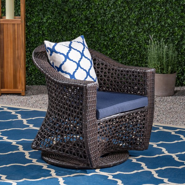 Ellenton Patio Chair with Cushions by August Grove