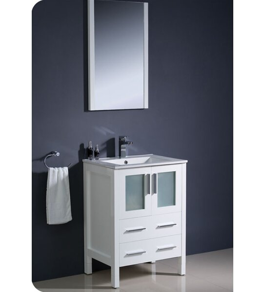 Torino 24 Single Bathroom Vanity Set with Mirror by Fresca