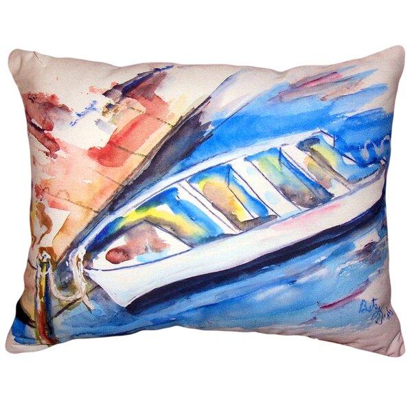 Myndi Rowboat at Dock Indoor/Outdoor Lumbar Pillow