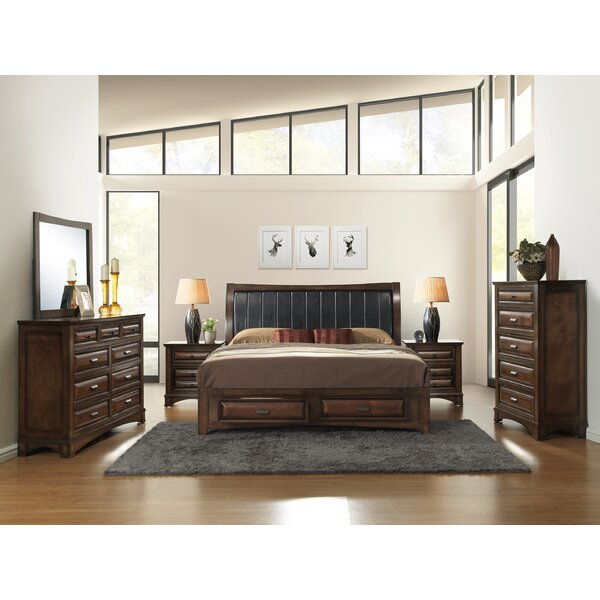 Broval King Platform 6 Piece Bedroom Set by Roundhill Furniture