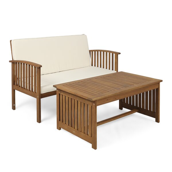Safira 2 Piece Sofa Seating Group with Cushions by Beachcrest Home