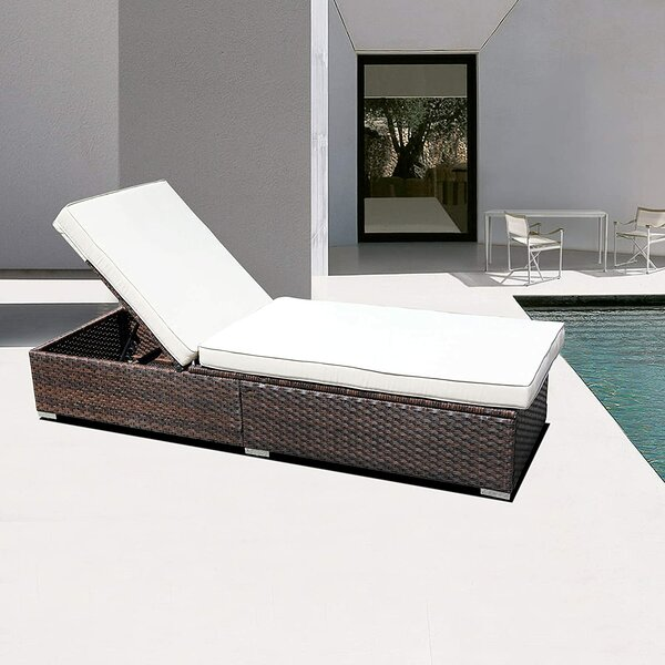 Protivin Reclining Chaise Lounge with Cushion