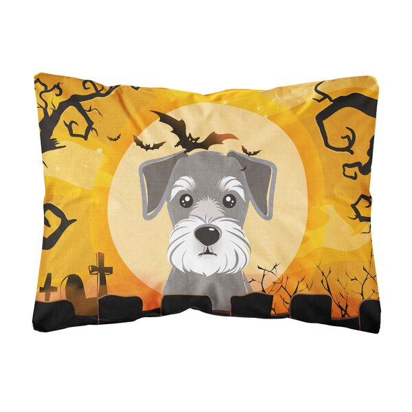 Josepha Halloween Schnauzer Fabric Indoor/Outdoor Throw Pillow by The Holiday Aisle