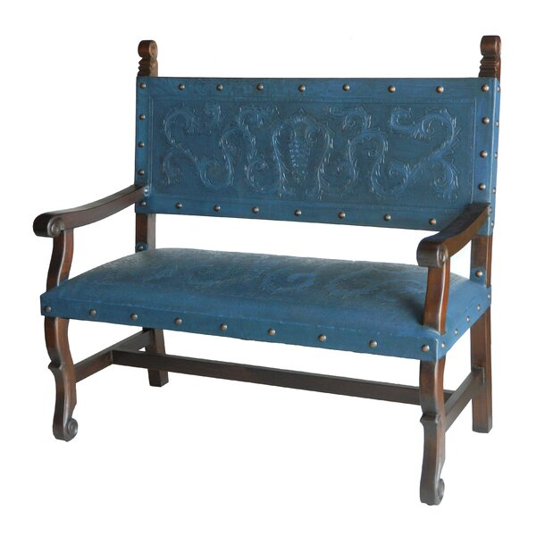 Wood/Leather Bench By New World Trading Great price