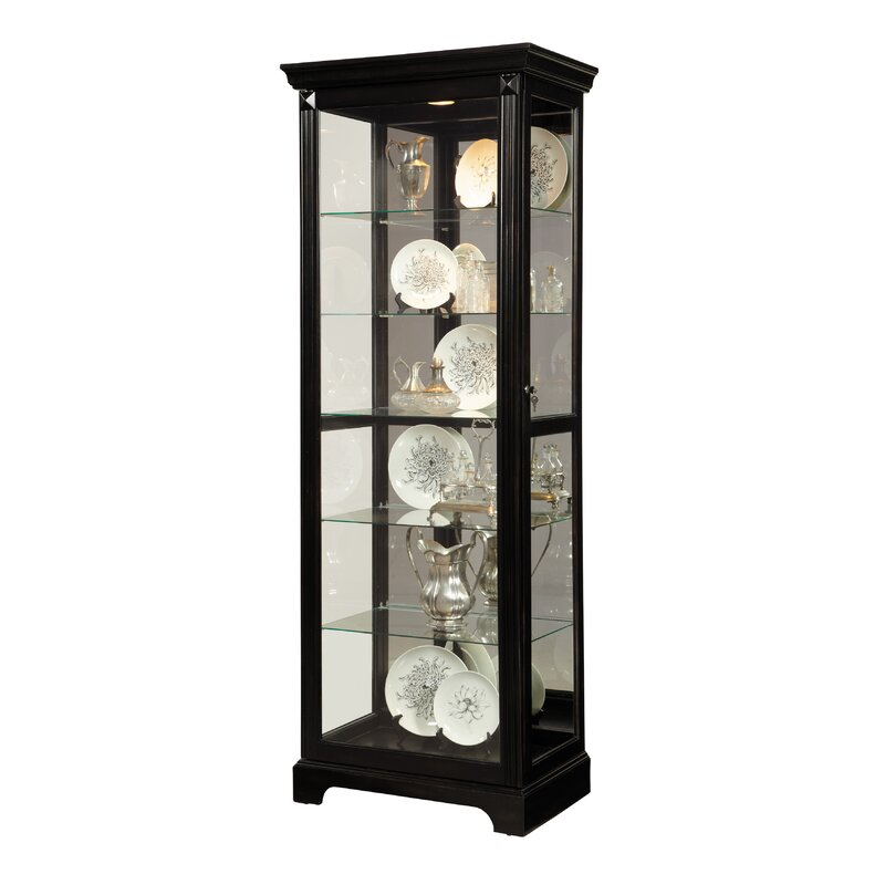 Napier Lighted Curio Cabinet