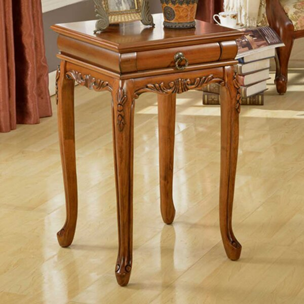 Shaped Leg End Table by All Things Cedar