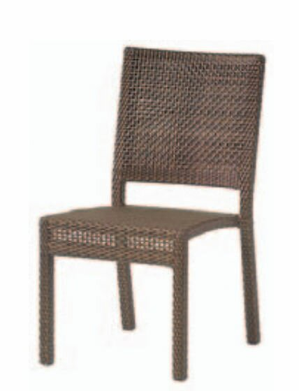 All-Weather Miami Armless Stacking Patio Dining Chair by Woodard