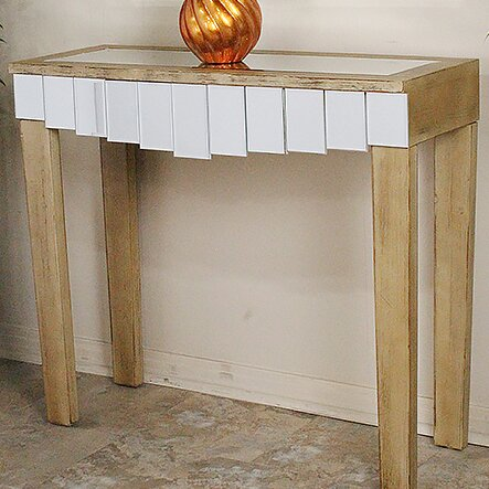 Cindi Mirrored Console Table By World Menagerie