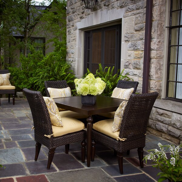 Somerby 5 Piece Sunbrella Dining Set With Cushions By Peak Season Inc.