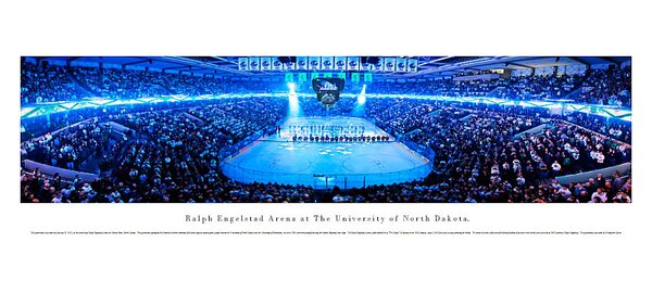NCAA University of North Dakota - Hockey Anthem by Christopher Gjevre Photographic Print by Blakeway Worldwide Panoramas, Inc