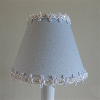 Pixie Wish 4 H Fabric Empire Candelabra Shade ( Clip On )