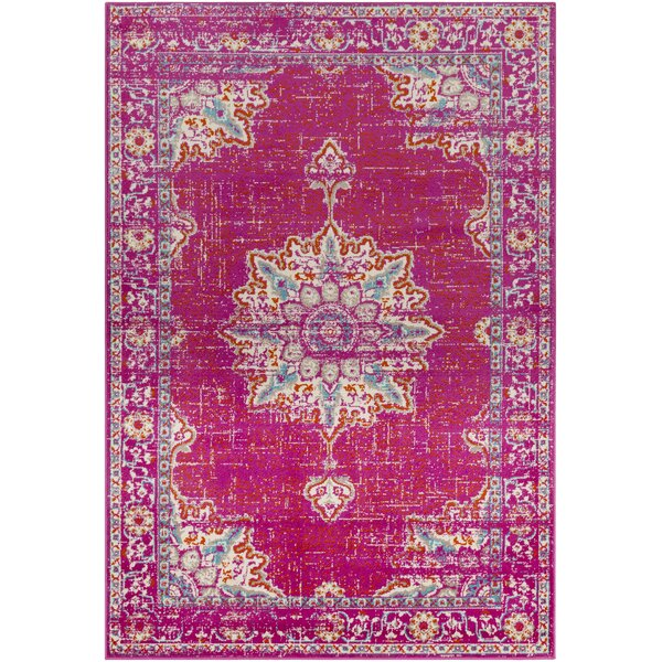 Ramsay Distressed Fuscia Area Rug by Bungalow Rose