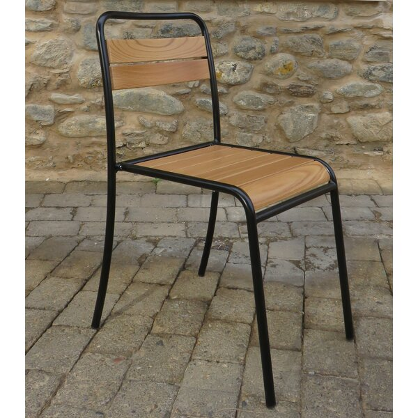 Claudius Bistro Stacking Patio Dining Chair (Set of 2) by Gracie Oaks