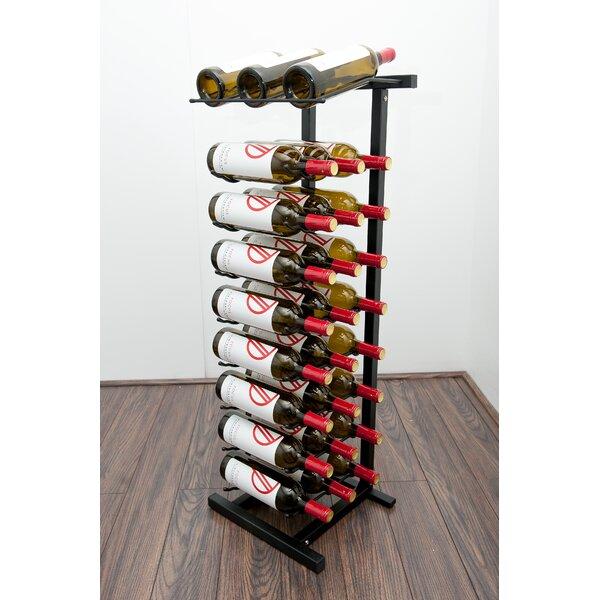 Illinois 27 Bottle Floor Wine Bottle Rack by Rebrilliant Rebrilliant
