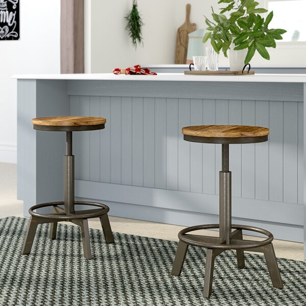 Canh Adjustable Height Bar Stool (Set of 2) by Gracie Oaks