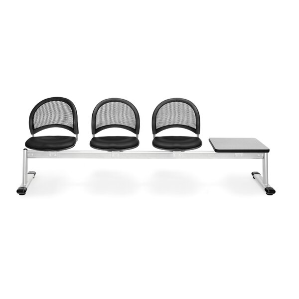 Stars and Moon Three Chair Beam Seating with Table by OFM