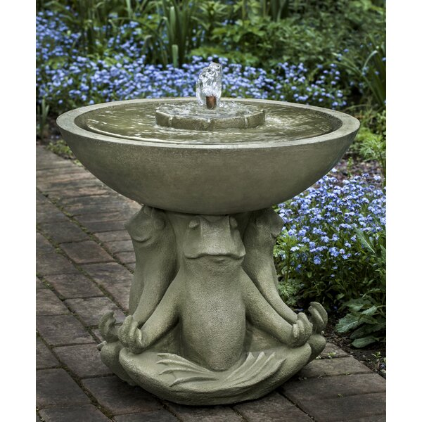 Zen Concrete III Fountain by Campania International