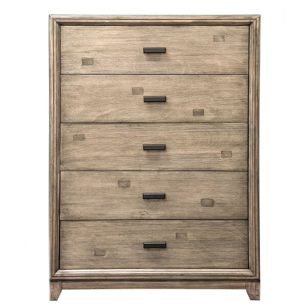 Karla 5 Drawer Standard Dresser/Chest by Hokku Designs