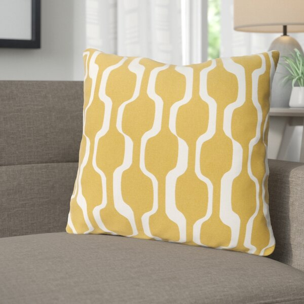 Arsdale Graphic Print Woven Cotton Throw Pillow by Langley Street