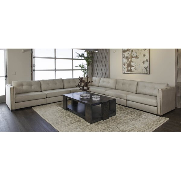Timpson Symmetrical Buttoned L-Shape Modular Sectional By Latitude Run