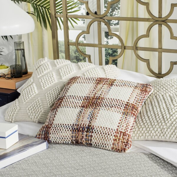 Hoytville Woven Plaid Throw Pillow by Darby Home Co
