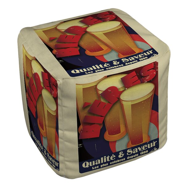 Bieres Qualite and Saveur Pouf by Manual Woodworkers & Weavers