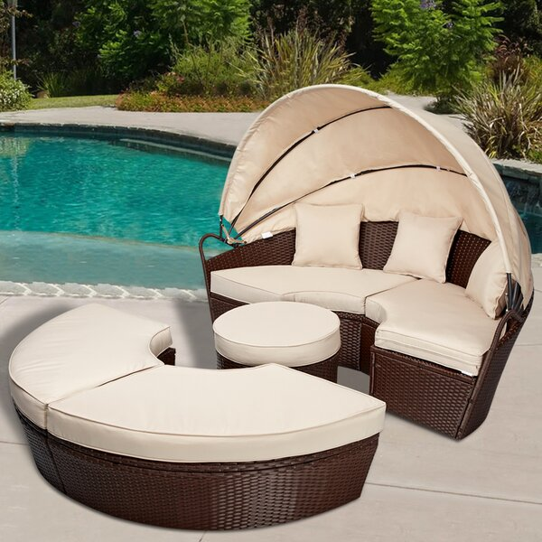 Almarene Patio Daybed with Cushions by Latitude Run