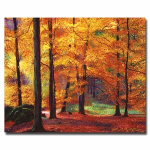 Autumn Serenity by David Lloyd Glover Painting Print on Canvas by Trademark Fine Art