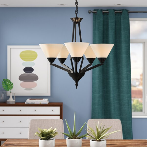 Abrielle 5 - Light Shaded Classic / Traditional Chandelier By Ivy Bronx