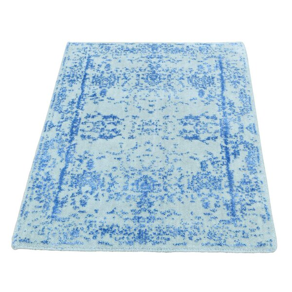 One-of-a-Kind Ebeling Broken Oriental Hand-Knotted Silk Area Rug by Rosecliff Heights