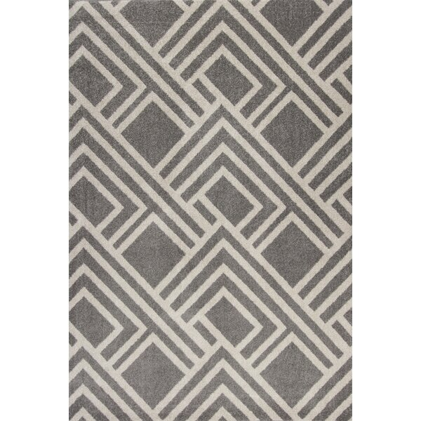 Lowesdale Gray Indoor/Outdoor Area Rug by George Oliver
