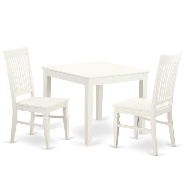 Cobleskill 3 Piece Dining Set by Alcott Hill
