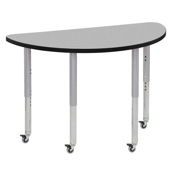 Half Thermo-Fused Contour Adjustable 24 x 48 Half-Circle Activity Table by ECR4kids