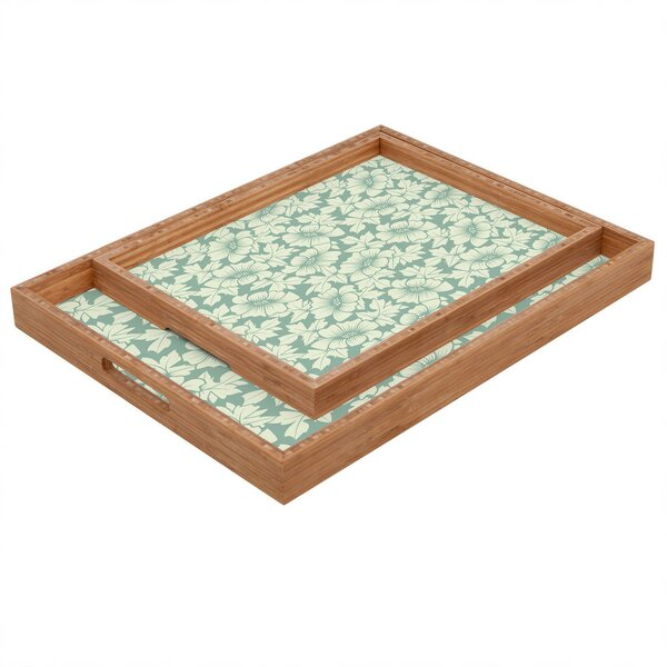 Flowers Everywhere Tray by East Urban Home