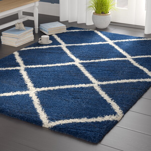 Greening Blue Area Rug by Beachcrest Home
