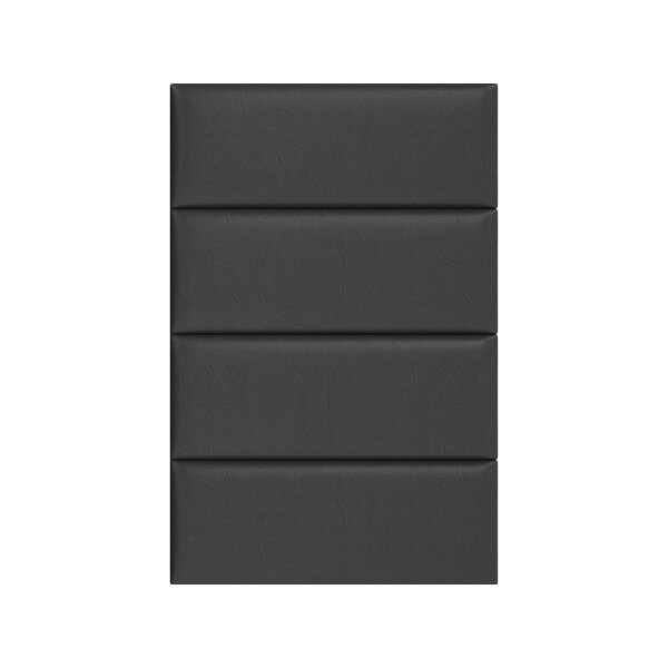 Vintage Leather Wall Paneling in Black Coal by Vant Panels