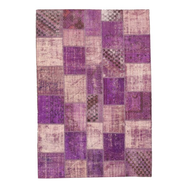 Narkhed Hand-Knotted Purple Area Rug by Meridian Rugmakers
