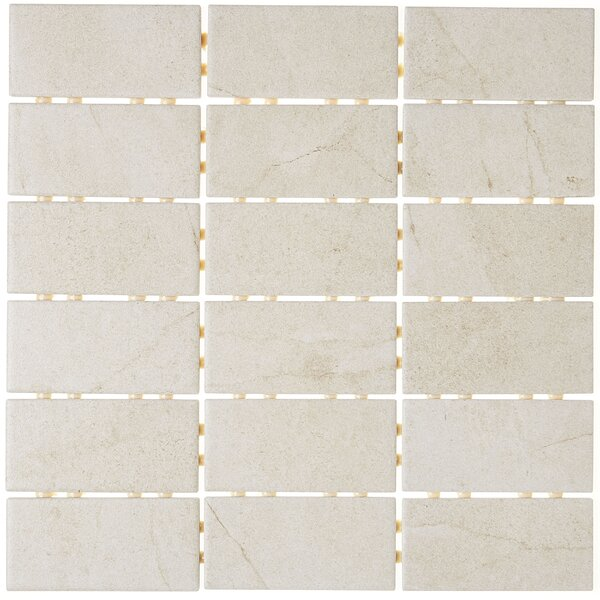 2 x 4 Ceramic Mosaic Tile in Beige by Itona Tile
