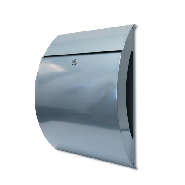 Dexter Steel Locking Wall Mounted Mailbox with Key by NACH