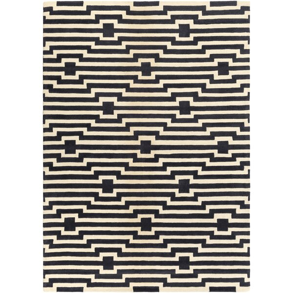 Zeitz Hand-Tufted Navy Area Rug by George Oliver