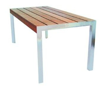 Etra Stainless Steel Dining Table by Modern Outdoor
