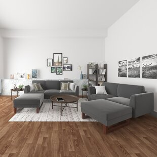 Pulaski 4 Piece Velvet Living Room Set by Wade Logan®