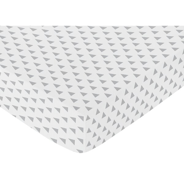 Earth and Sky Triangle Print Fitted Crib Sheet by Sweet Jojo Designs