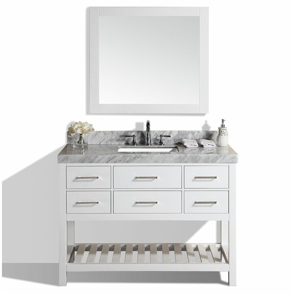 Laguna 49 Single Modern Bathroom Vanity Set with Mirror by Pacific Collection