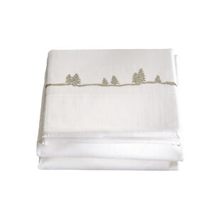 Shop Hailee 4 Piece Embroidered Pines 200 Thread Count 100% Cotton Sheet Set By Loon Peak