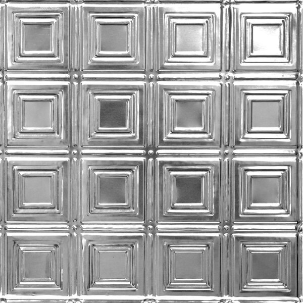 23.75 x 23.75 Metal Tile in Chrome by Shanko