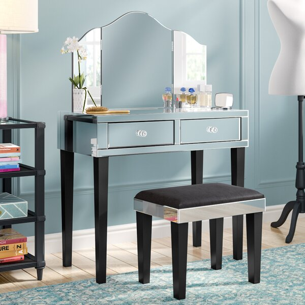 Roldene Vanity Set With Mirror By Rosdorf Park by Rosdorf Park Comparison